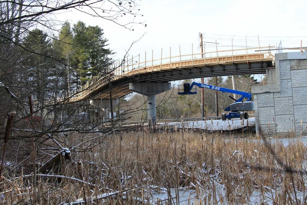 January 2017 - The Bridge over Rte 2A - Photo: Larry Bruns