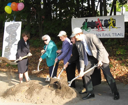 Photo from 2007 Groundbreaking ceremony  in Chelmsford for Phase 1