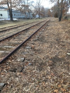 The rail bed in West Concord.