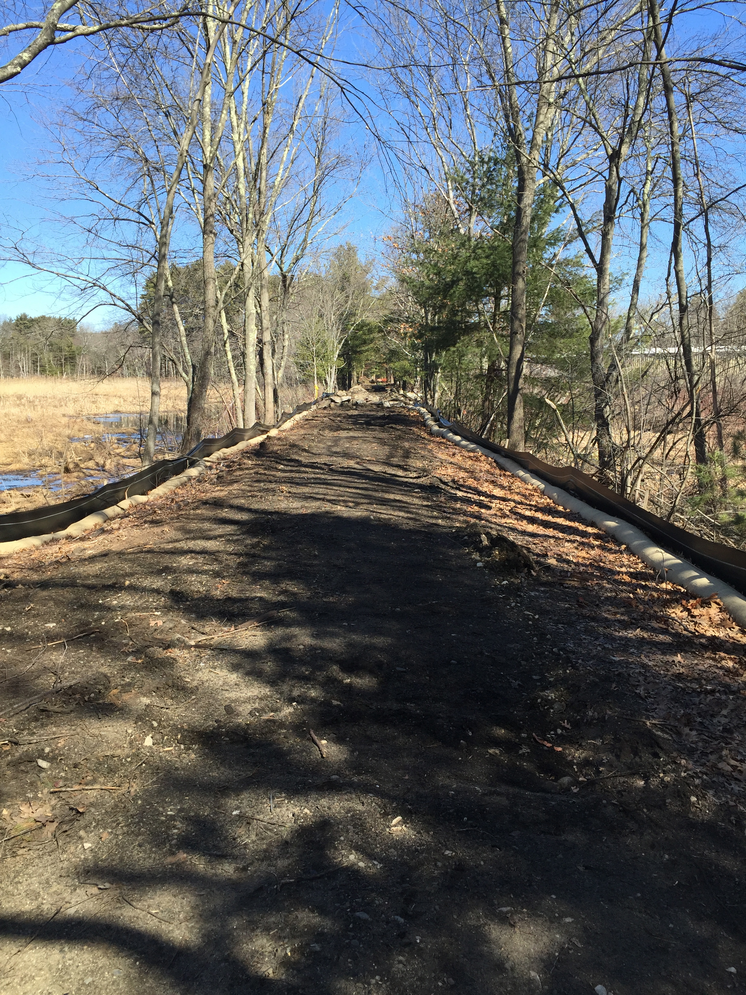 A section of the trail near Nashoba Sportman's Club in Acton. March 2016