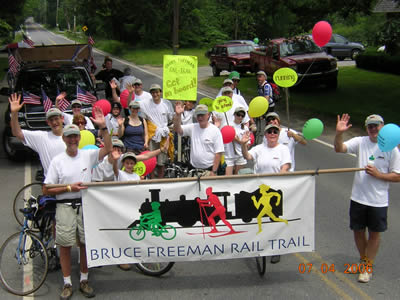 Friends of the Bruce Freeman Rail Trail at the July 4, 2006 Parade