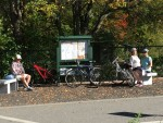 Benches and Kiosk on Bruce Freeman Rail Trail
