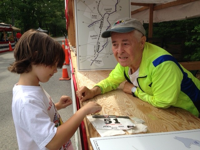 Alan with his grandson at Carlisle Old Home Day.
