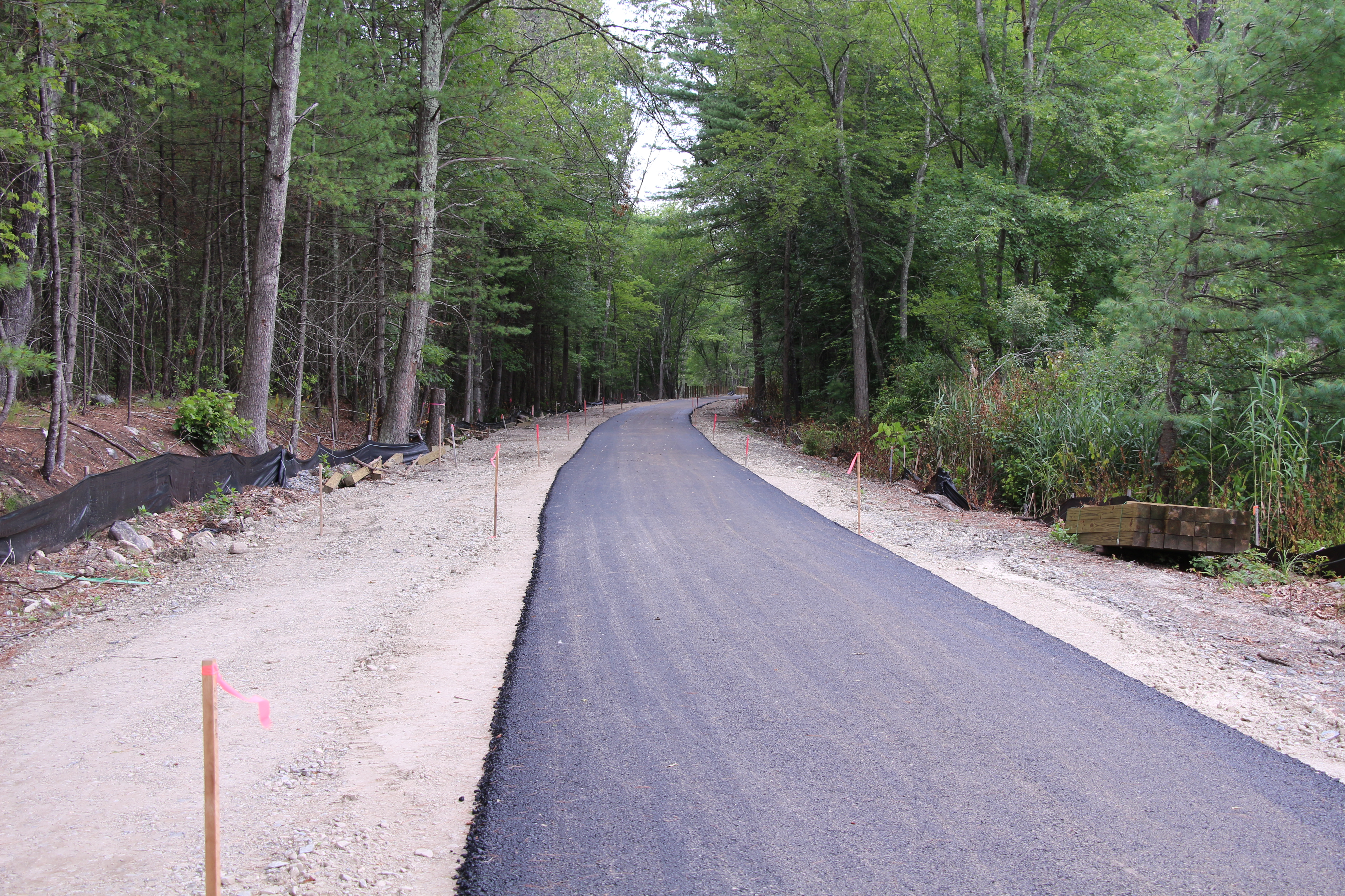Progress on the trail in Acton.