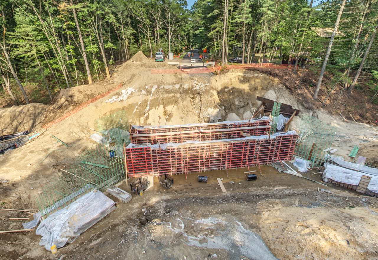 Powder Mill Culvert construction - August 2017. Photo credit: John Wood