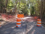 Trail construction in West Concord near the intersection of Old Marlboro Road and Cottage Street - October 2017