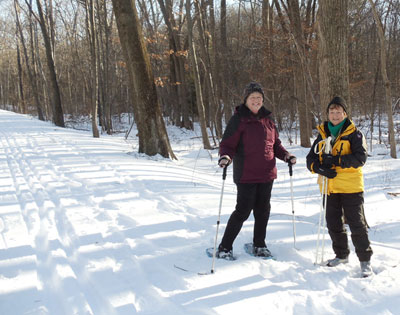 2011 - Snowshoeing on the trail.