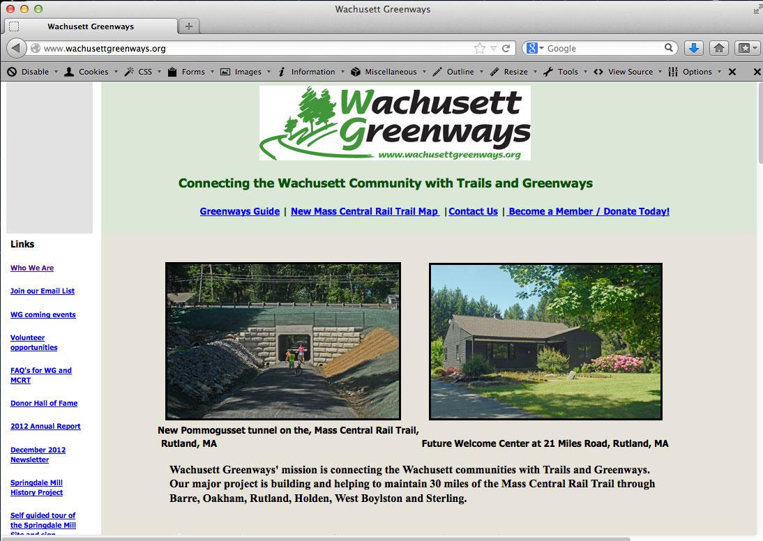 Bruce Freeman Rail Trail Website - image 3 - student project