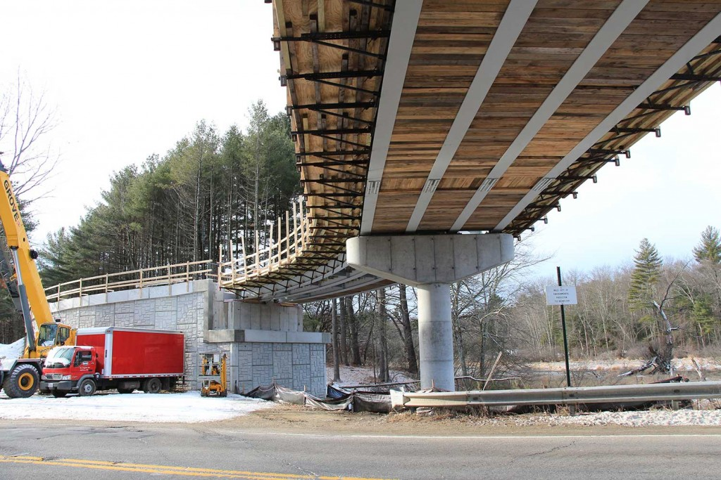 January 2017: A view of the bridge from Rte 2A - Photo: Larry Bruns