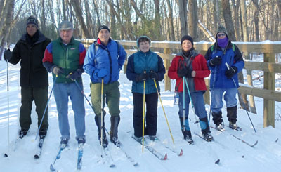 2011 - Cross country skiers enjoying Phase 1 of the trail.